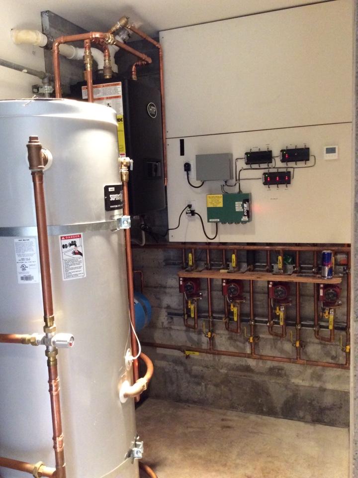 Inverness, CA - New HTP boiler installation