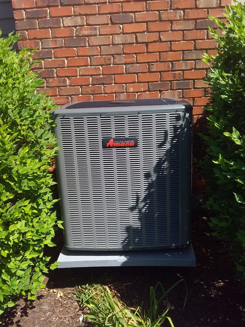 Naperville, IL - Completed a.c maintenance on amana condenser unit.