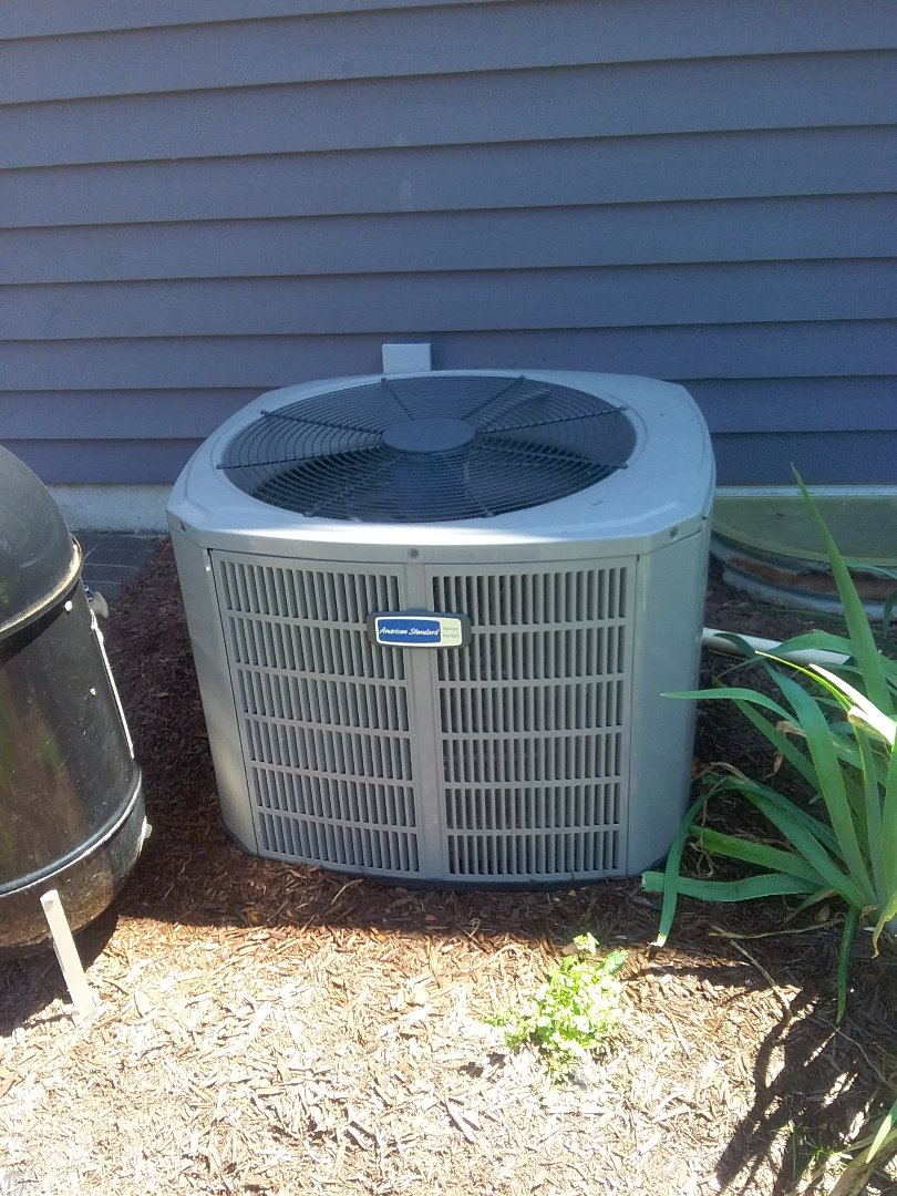 Naperville, IL - Completed a.c maintenance on a American Standard condenser unit