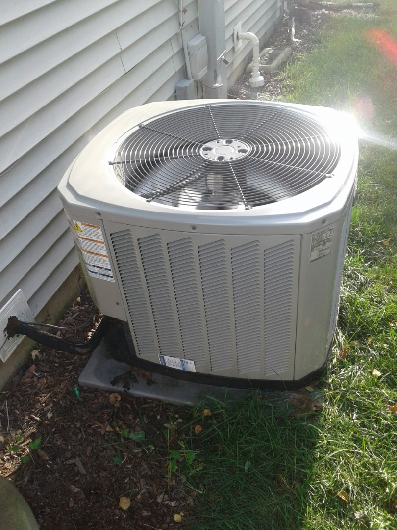 Plainfield, IL - Complete a.c. diagnostic. Replaced dual cap with turbo cap on trane unit. All is operating properly at this time.