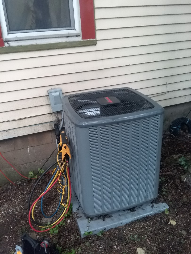 Naperville, IL - Completed a.c maintenance on a amana unit
