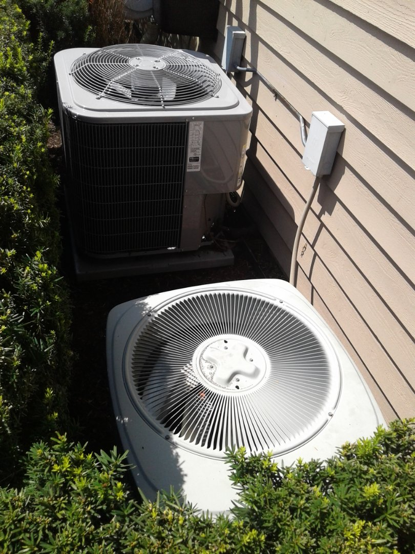 Complete a.c. maintenance on both units trane and carrier