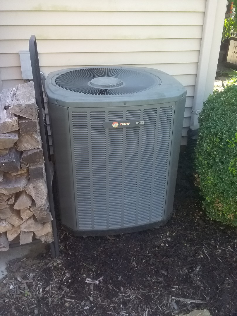 Completed furnace and ac maintenance trane systems
