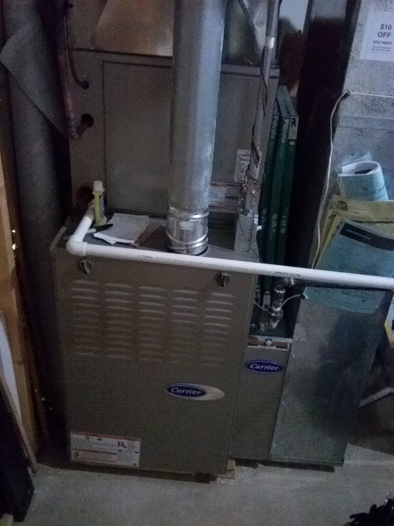 Furnace maintenance on a Carrier furnace