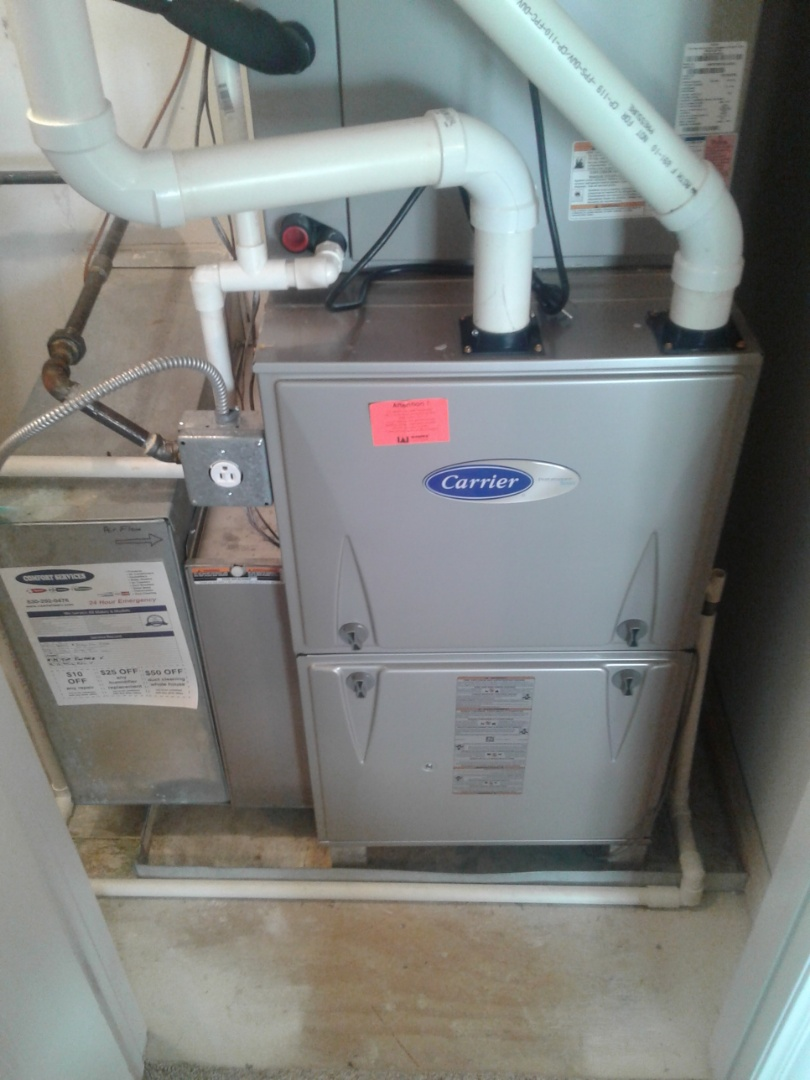 Complete furnace maintenance on carrier. All components are working properly at this time.