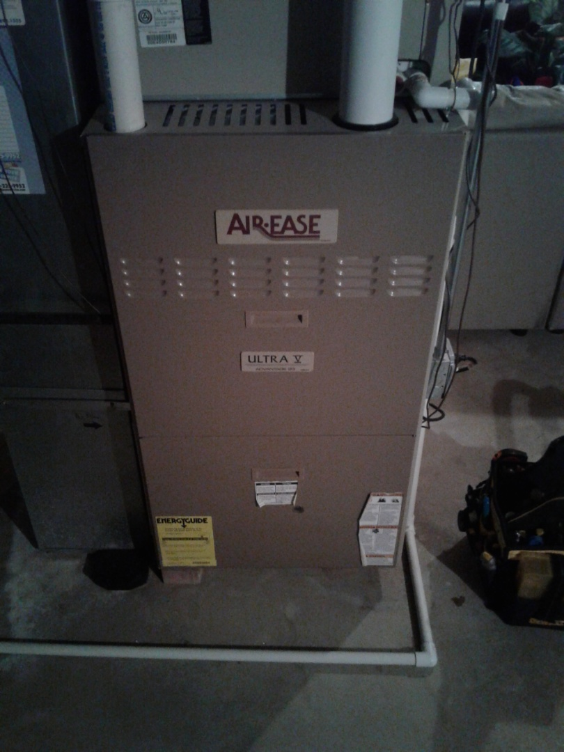 Oswego, IL - Complete furnace, humidifier, and hot water heater maintenance. All is operating properly at this time.