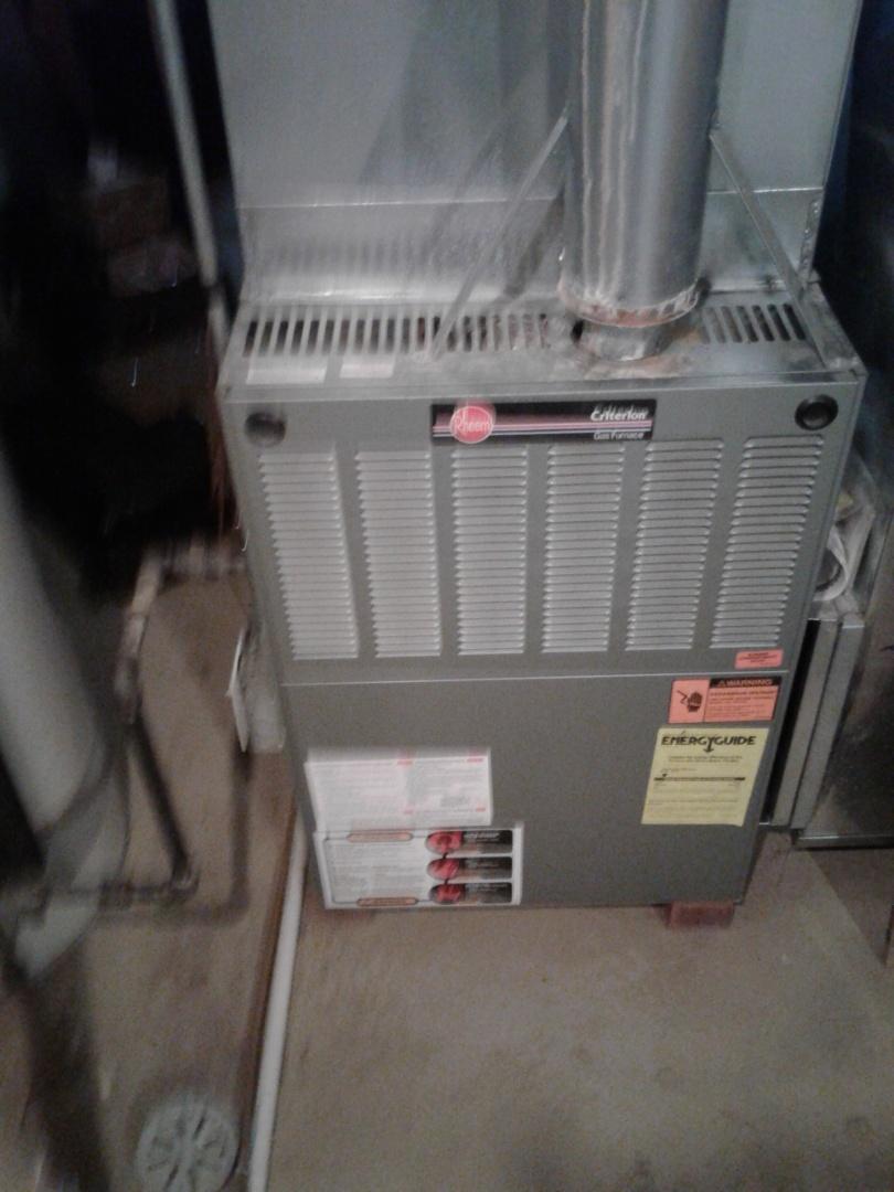 Plainfield, IL - Complete furnace diagnostic and maintenance of rheem.