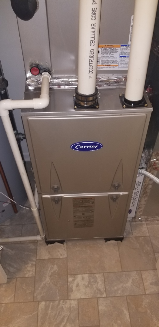Naperville, IL - Complete furnace maintenance on Carrier. All is working properly at this time.