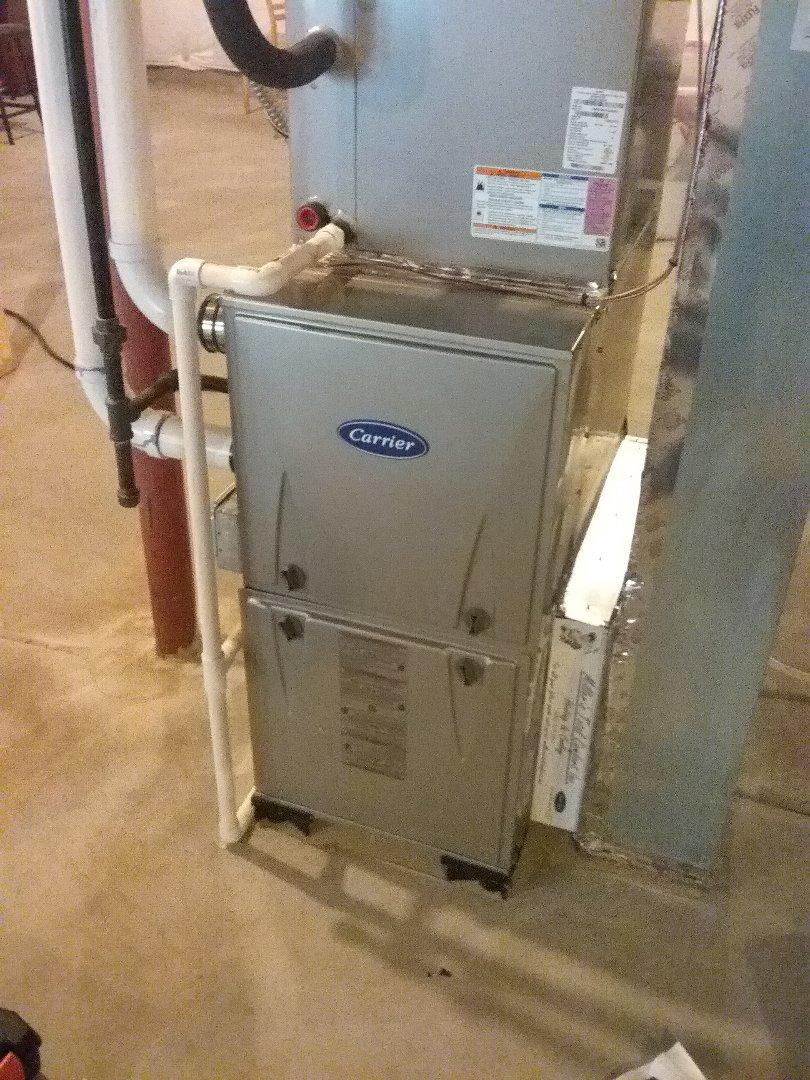 Maintenance on a Carrier furnace