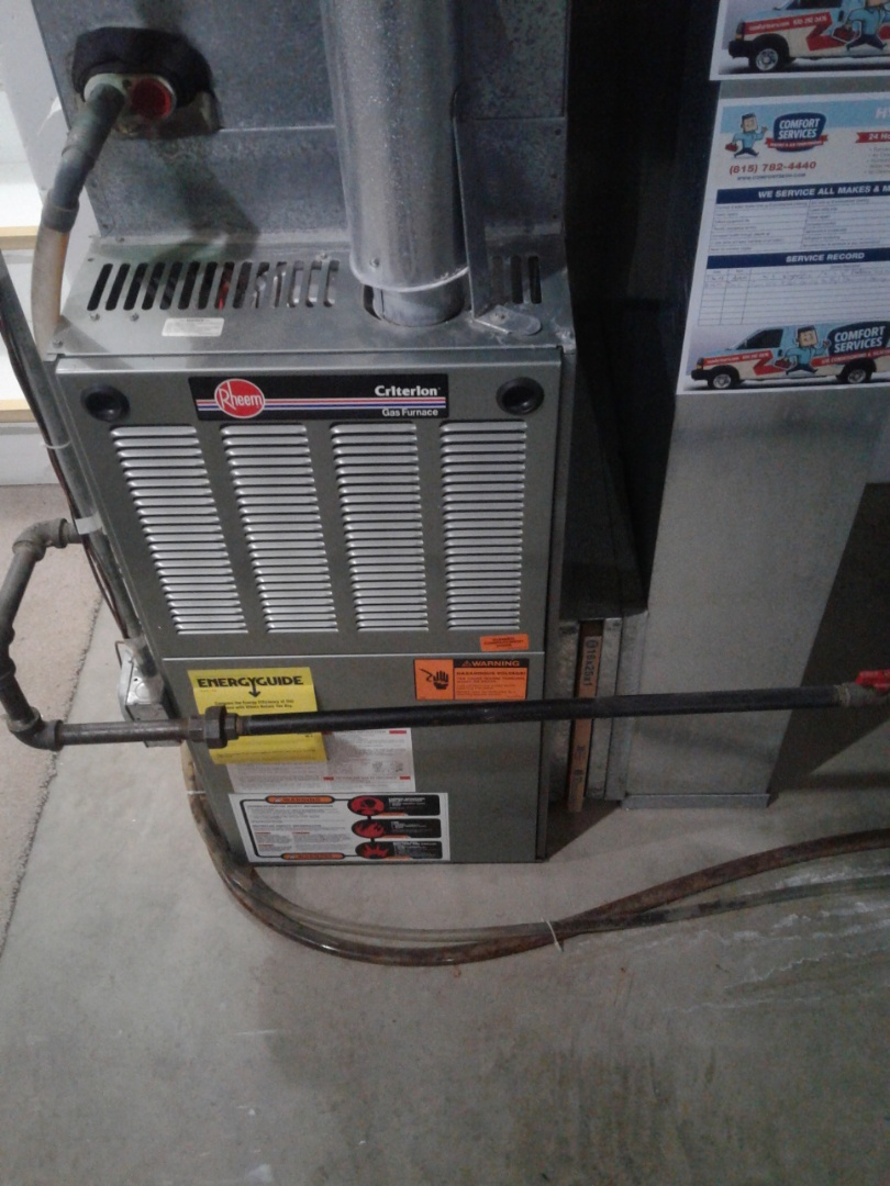 Plainfield, IL - Complete furnace maintenance. All components are operating properly at this time.