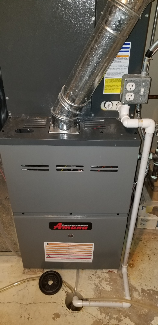 Complete furnace and humidifier maintenance on amana. All is working properly at this time.