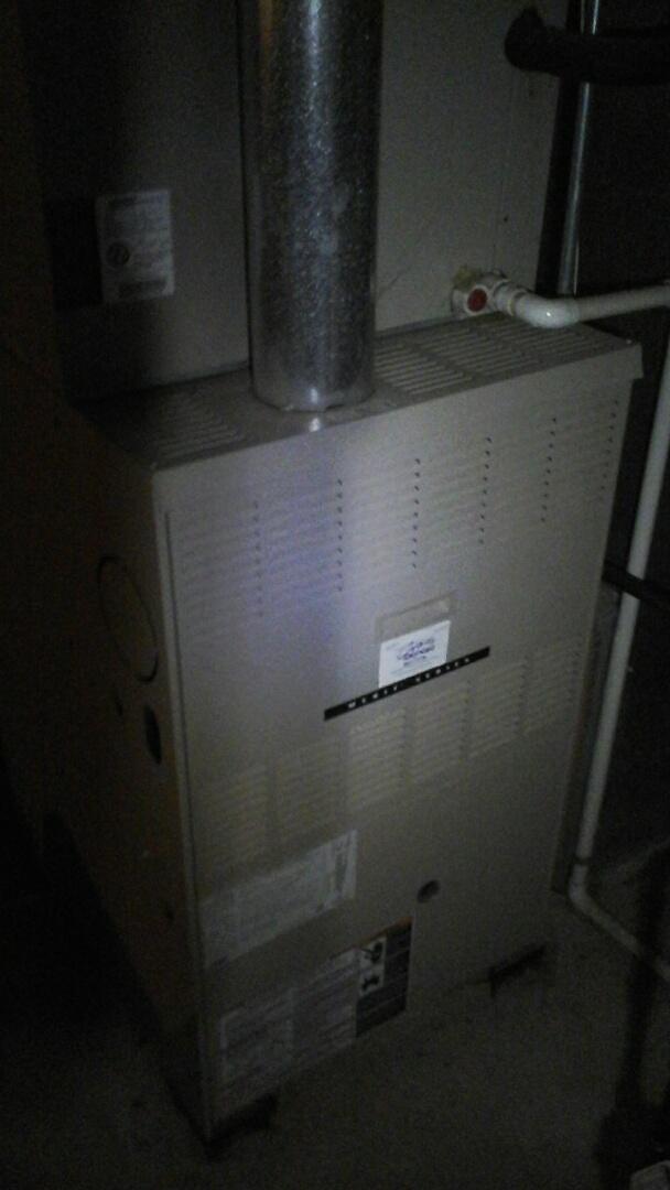Serviced a Lennox furnace