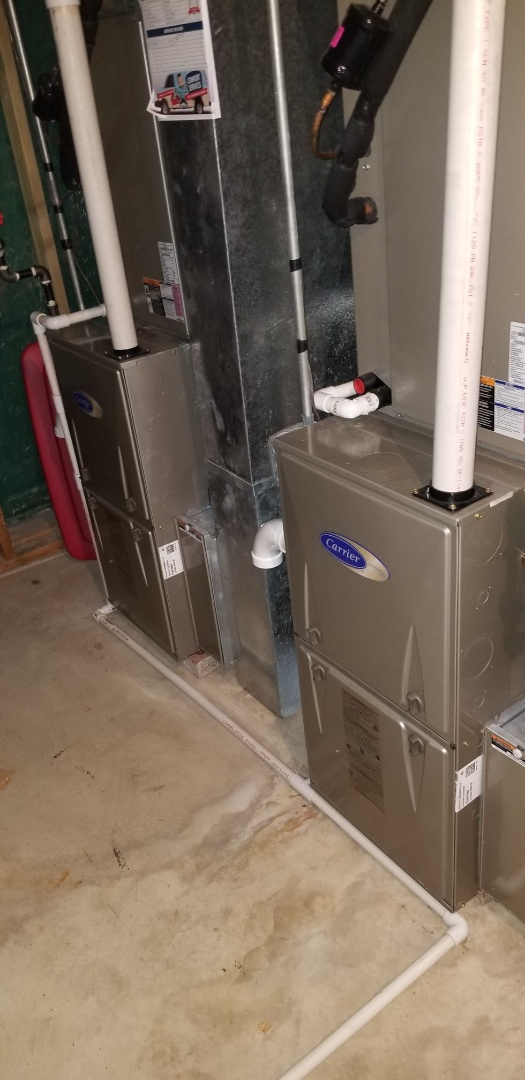 Complete 2 system furnace and humidifier maintenance. All is operating properly at this time.