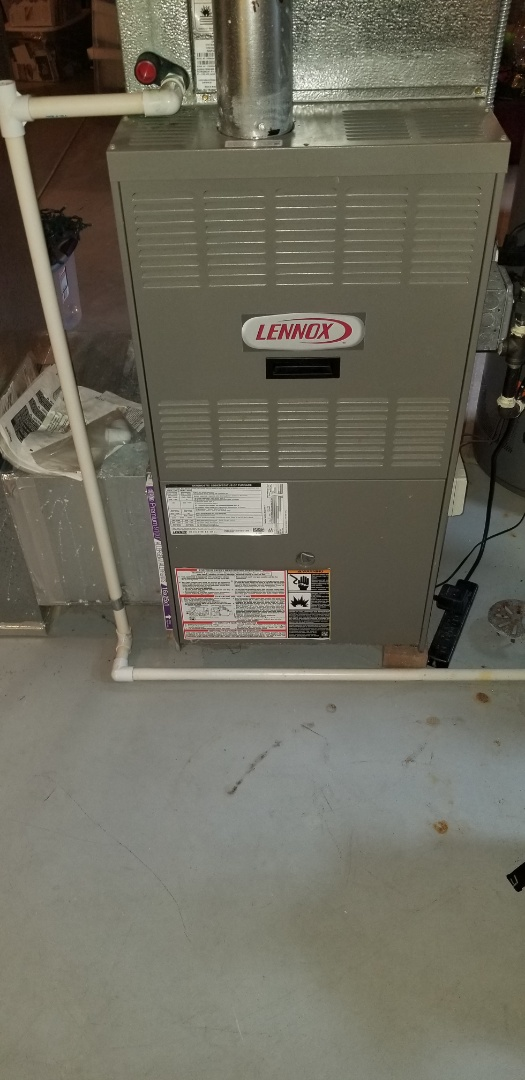 Oswego, IL - Complete furnace maintenance on lennox and blower cleaning. All is operating properly at this time.