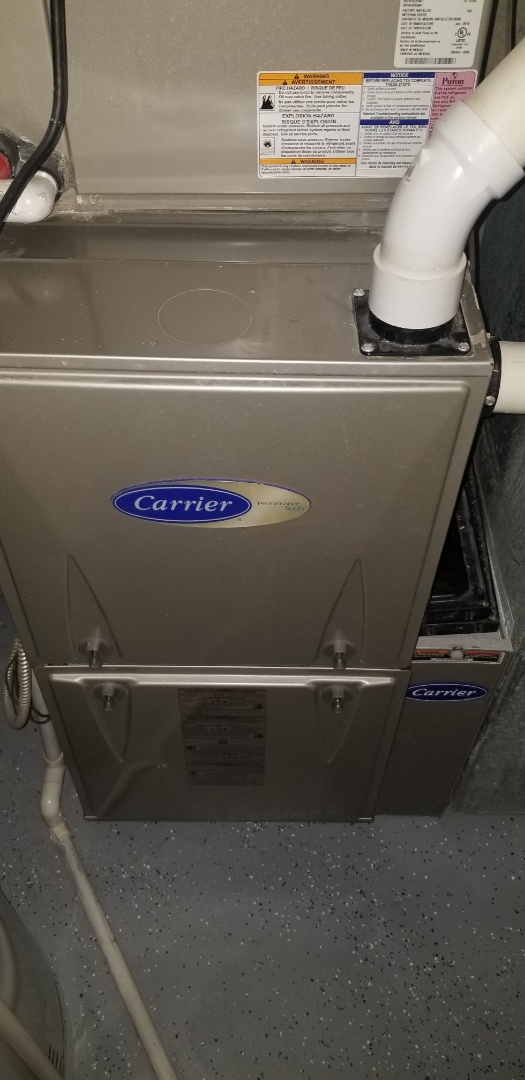 Complete furnace maintenance on 2 units. All is operating properly.