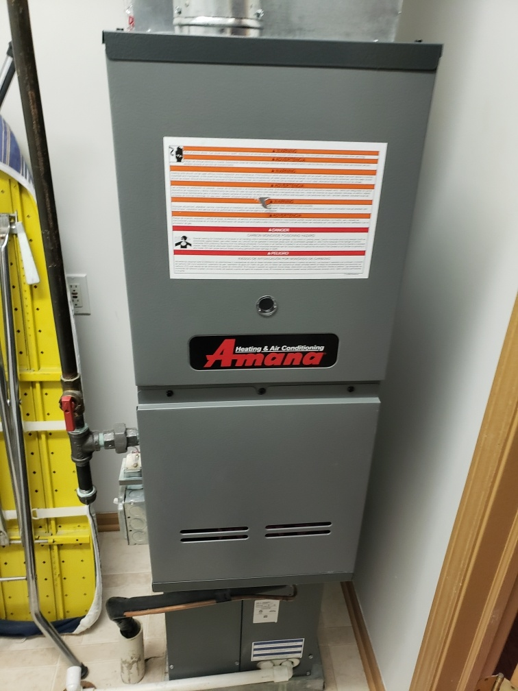 Romeoville, IL - Complete furnace maintenance on amana. All is operating properly at this time.