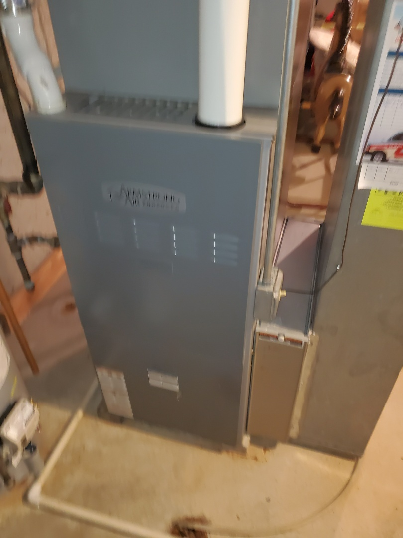 Complete furnace maintenance. Everything is operating properly at this time.