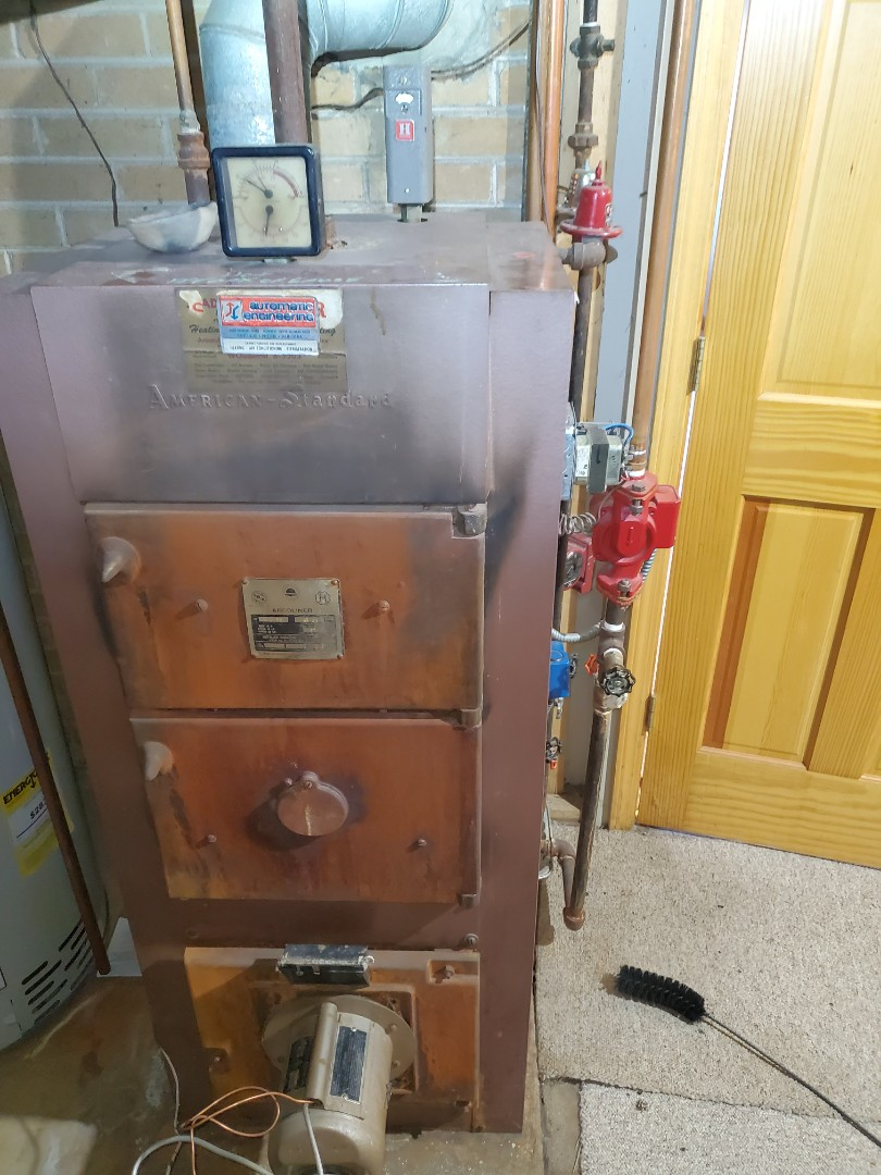 Complete boiler maintenance. All is operating properly at this time.