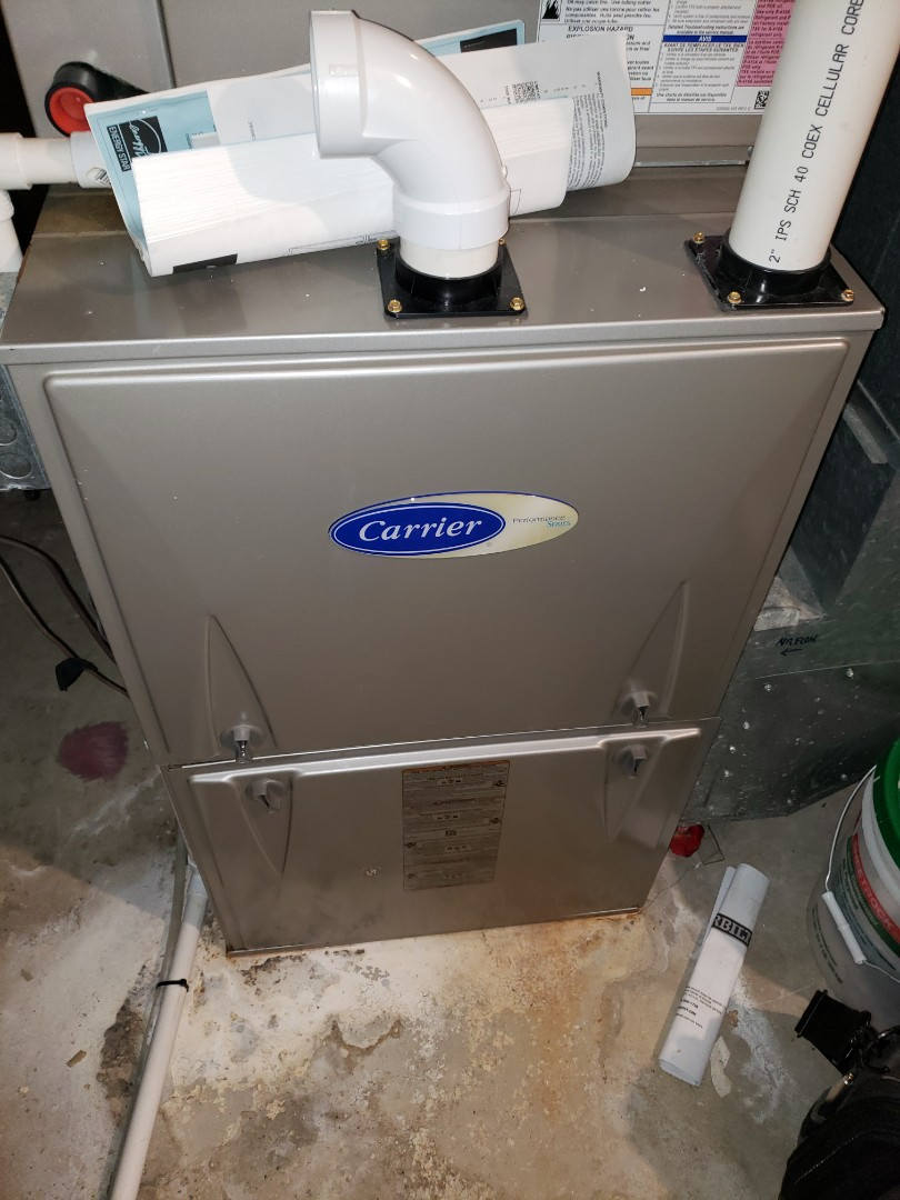 Complete furnace and humidifier maintenance. All equipment is in proper working order