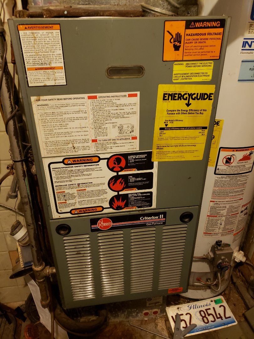 Joliet, IL - Complete furnace maintenance. Equipment is working properly.