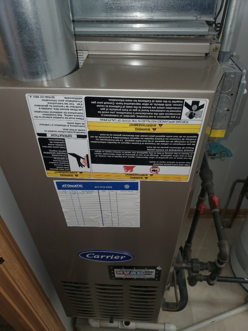 Complete furnace maintenance. All is okay at this time.