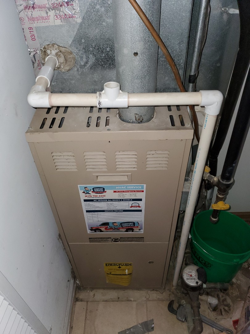 Montgomery, IL - Complete furnace maintenance. Customer is aware of issues.