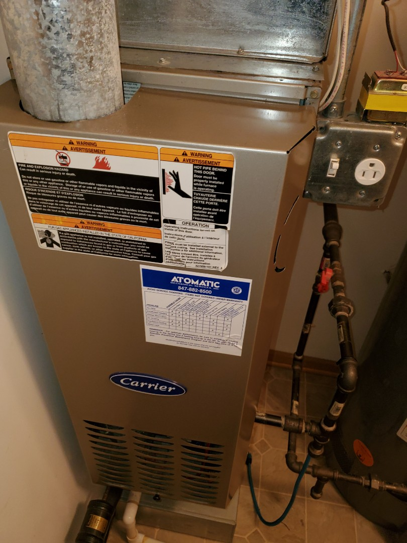 Crest Hill, IL - Complete furnace diagnostic. Replaced ignitor, all is operating properly.