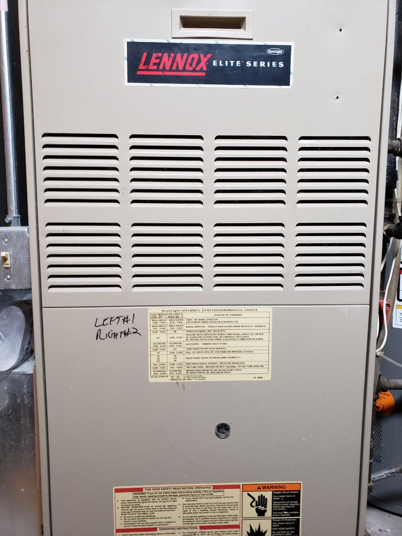 Naperville, IL - Complete furnace maintenance. Furnace is operating properly. Recommed new inducer motor or replacing the furnace.