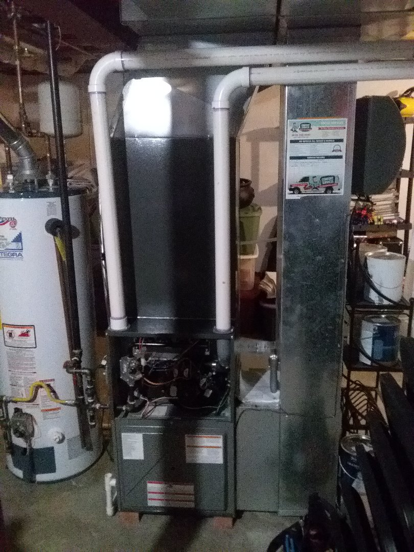 Completed furnace maintenance, replaced furnace filter
