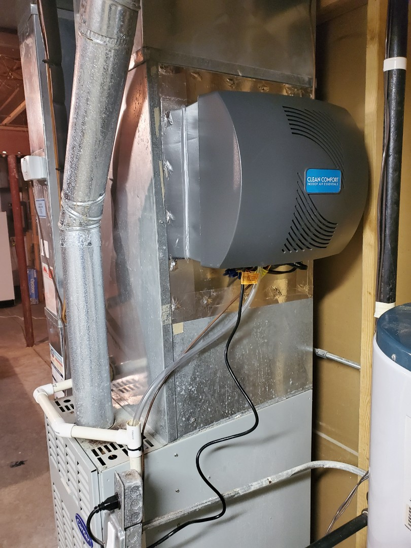 Complete humidifier install. All operations are working properly.