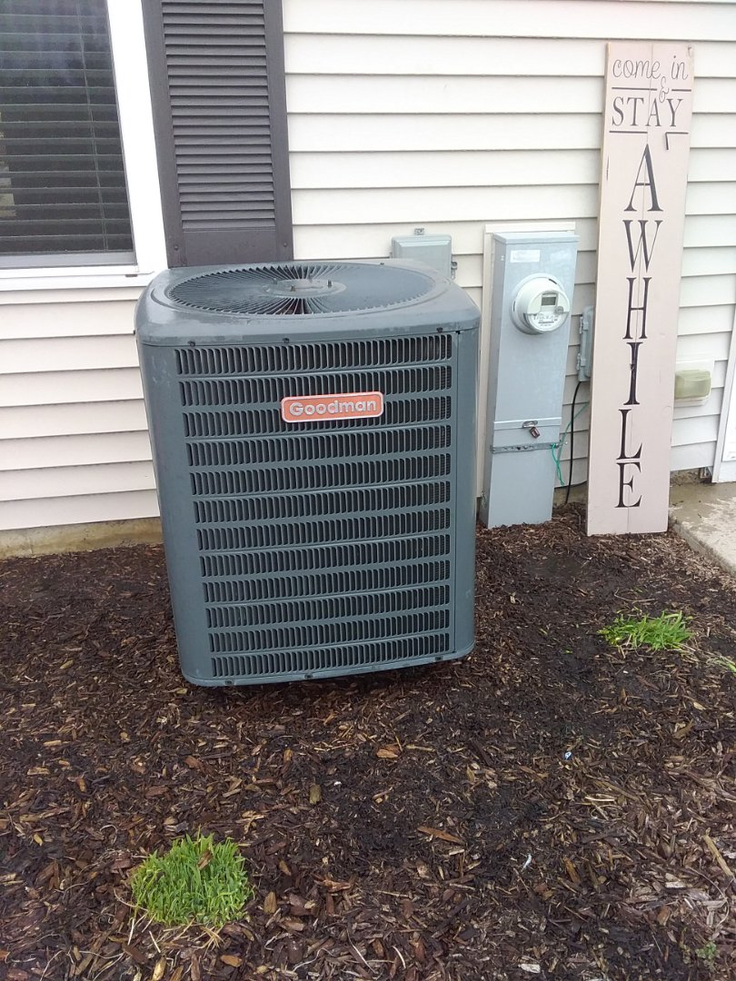 Completed ac maintenance on a goodman system.