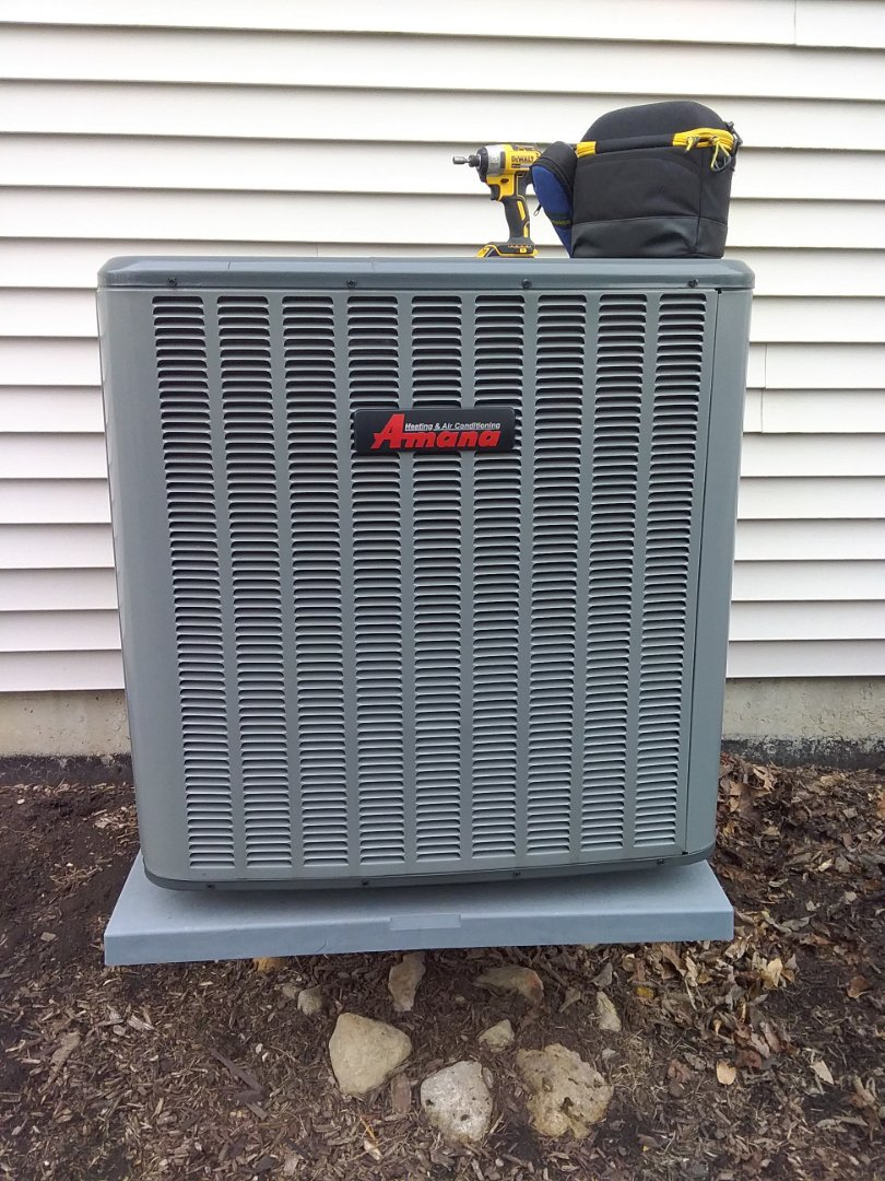Completed spring maintenance on a Amana system
