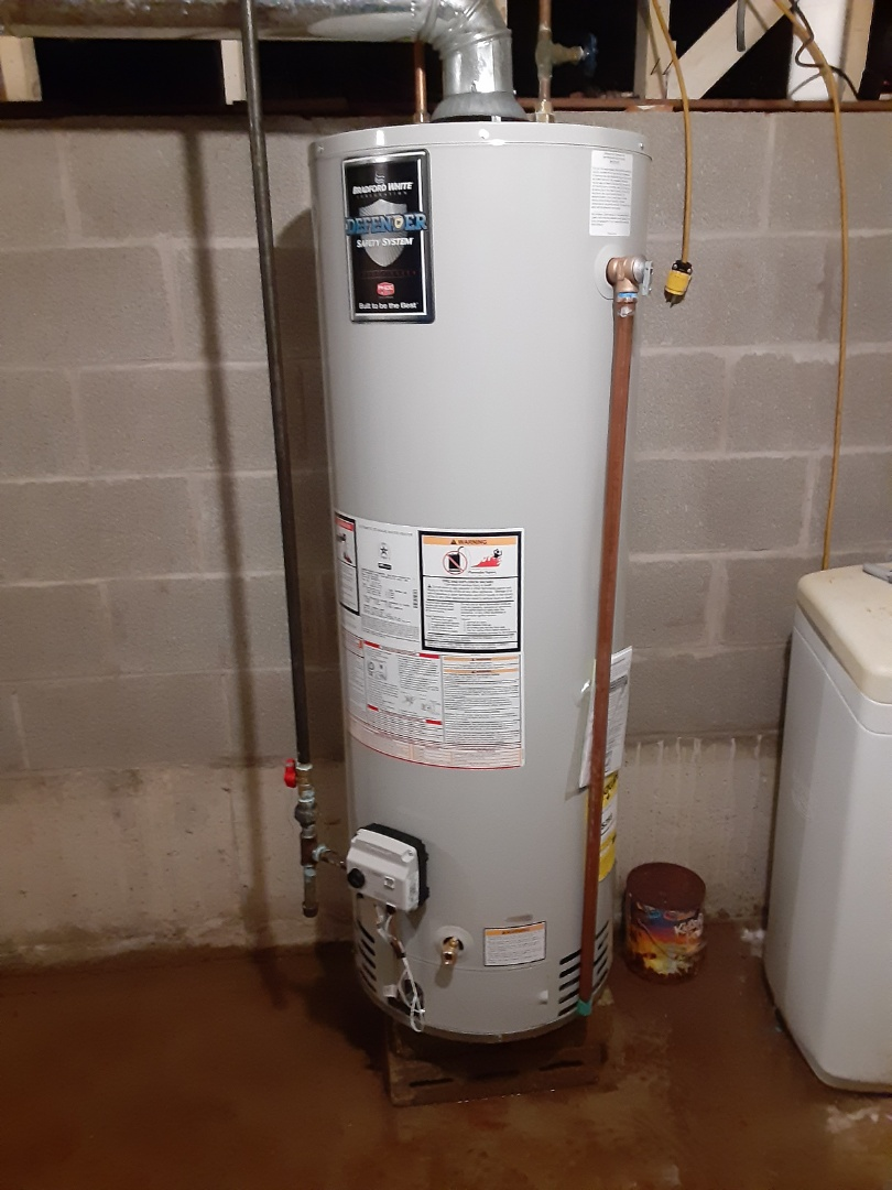 Complete hot water heater installation. Hwh is working properly.