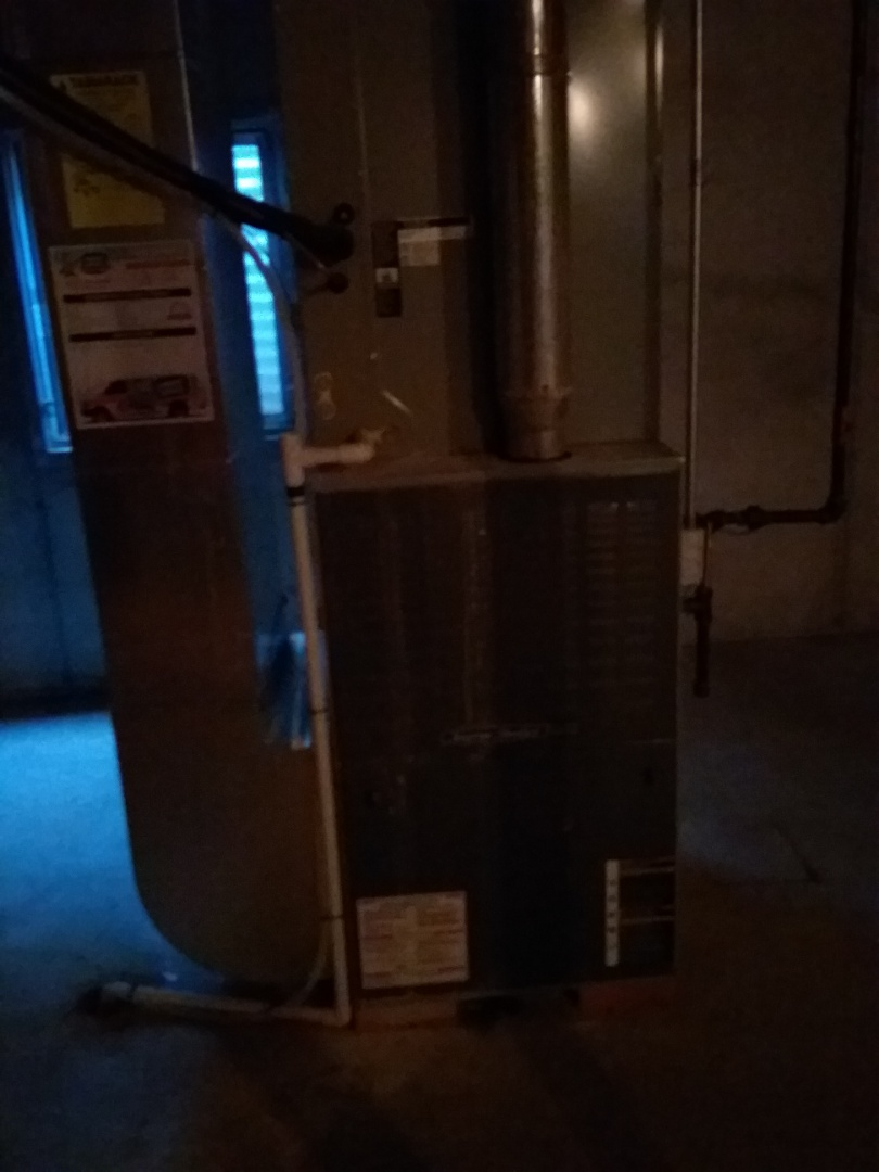 Oswego, IL - Completed fall maintenance on a american standard furnace and cleaned duct work