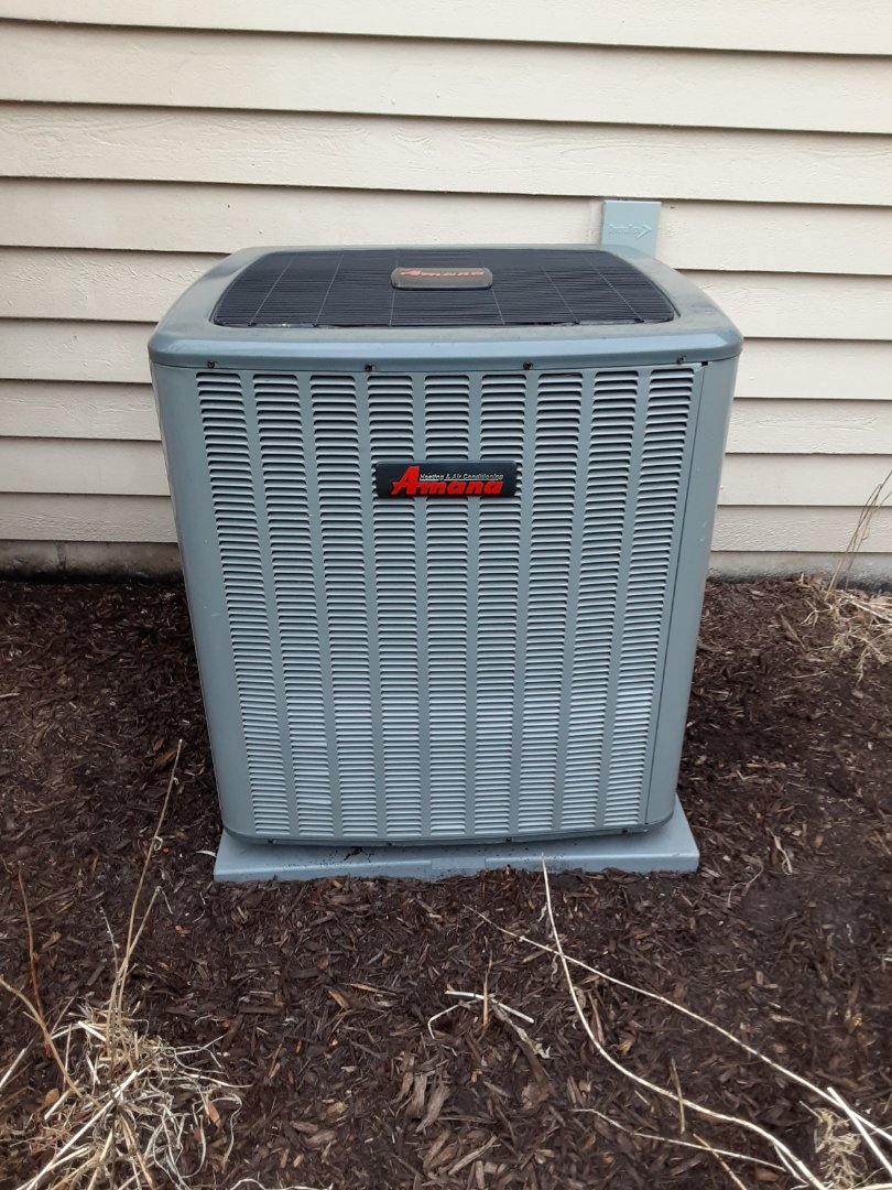 Naperville, IL - Complete ac maintenance. Recommend a dryer vent cleaning due to line build up outside at vent.