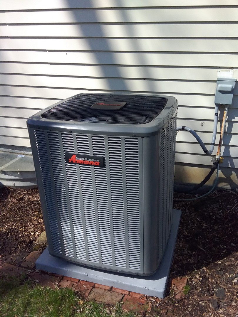 Completed spring maintenance on a Amana system.