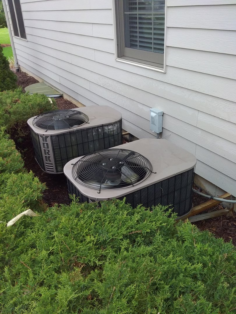 Completed spring maintenance on two York ac systems.