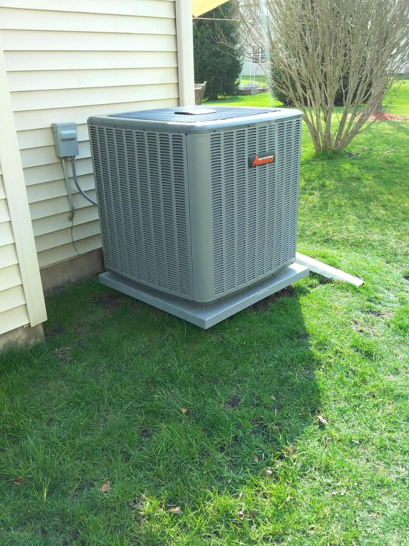 Completed ac start up on a new Amana system.