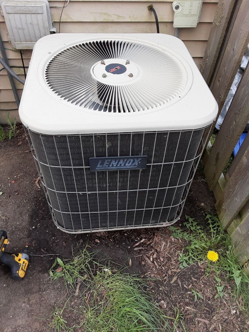 Montgomery, IL - Complete ac maintenance. Recommend replacing ac unit due to age and R22 refrigerant being banned. Also recommend replacing hot water heater due to age.