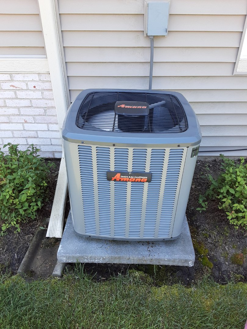 Complete ac maintenance. Added 1lb of R410a. Customer signed up for Comfort Club today and is owed a furnace maintenance.
