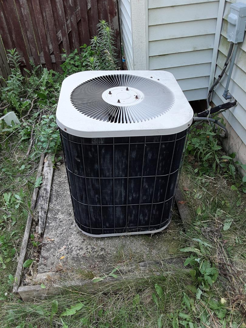 Plainfield, IL - Complete ac maintenance. Replaced run capacitor.