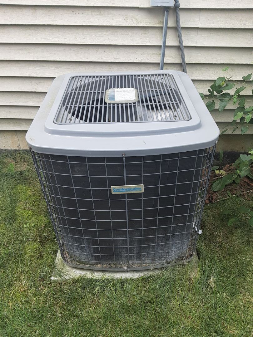 Complete ac maintenance. Replaced run capacitor, added ez seal, and added 1lb of R22.