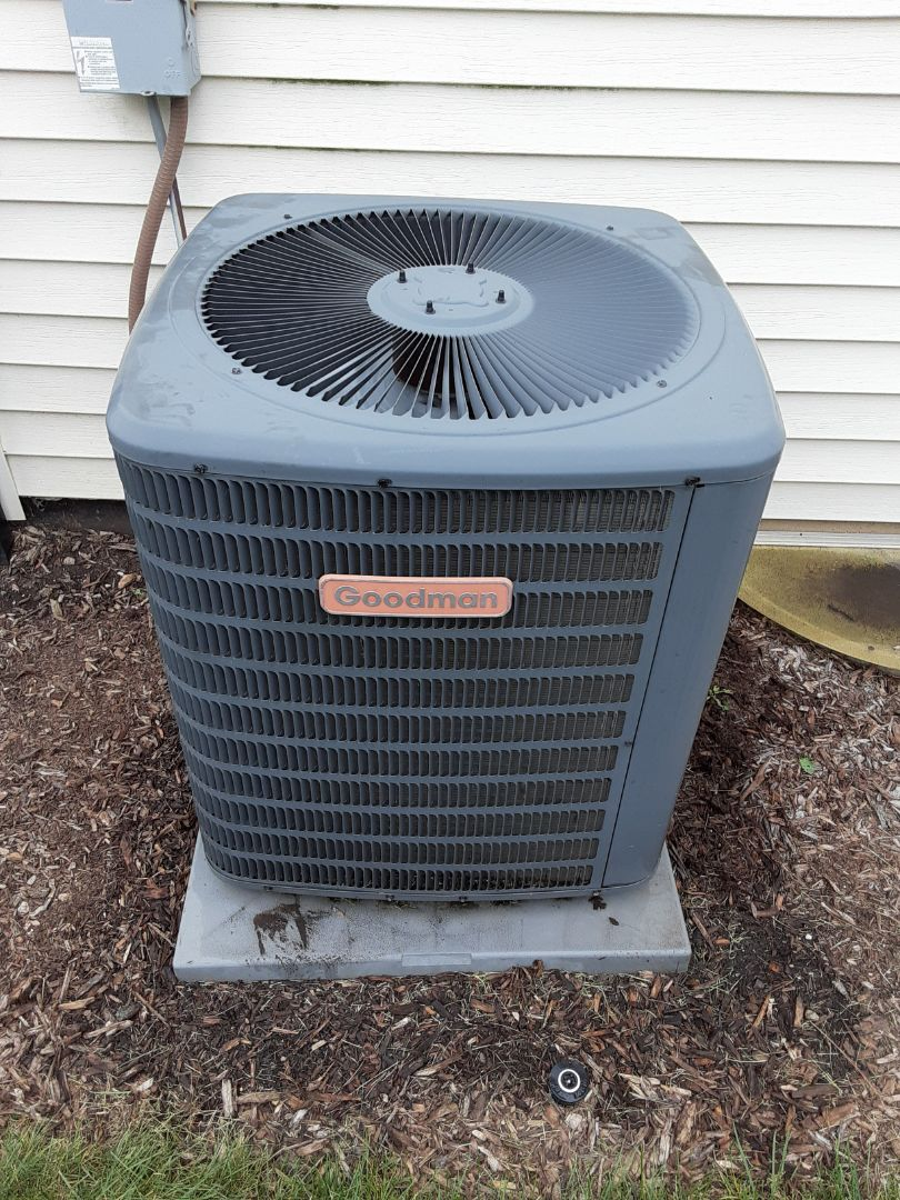 Complete ac maintenance. Recommend replacing filter and a furnace maintenance