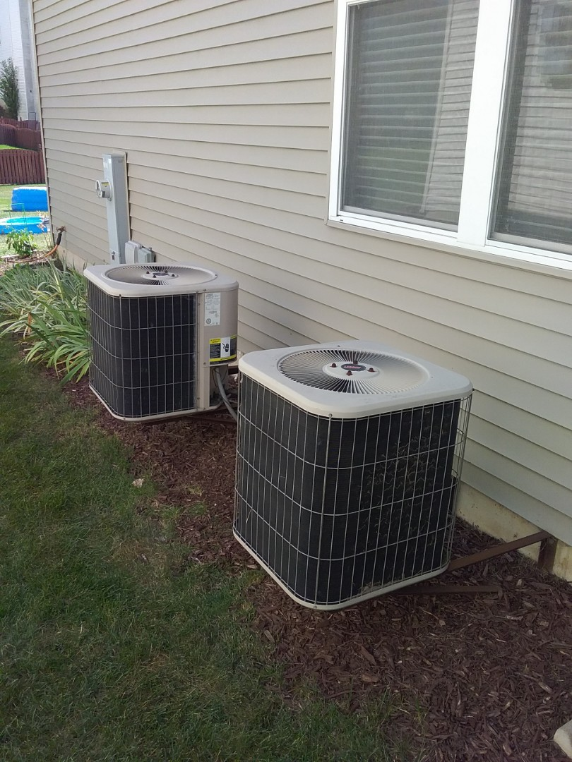 Bolingbrook, IL - Serviced and repaired 2 -16yr old lennox a/c systems