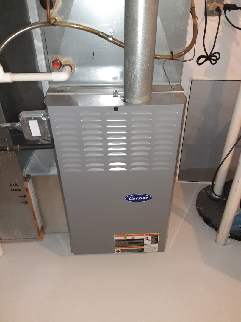 Crest Hill, IL - Complete furnace maintenance. Replaced the blower motor run capacitor.