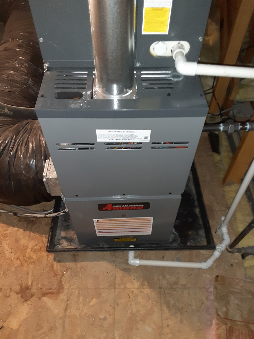 Joliet, IL - Complete furnace maintenance. Recommend adding a wet switch to protect furnace in attic.