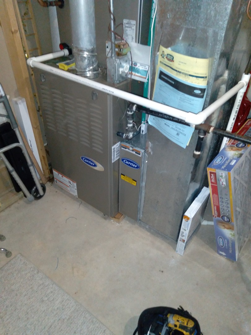 Crest Hill, IL - Completed furnace maintenance on a carrier furnace