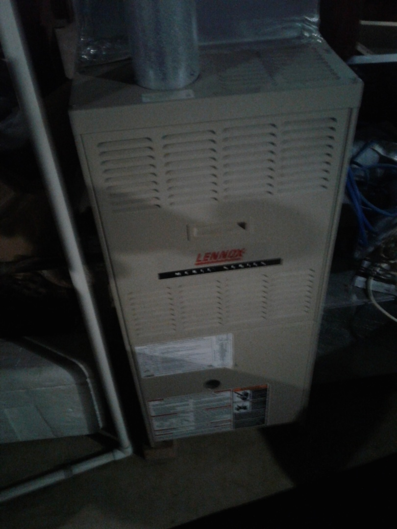 Completed furnace maintenance on Lennox