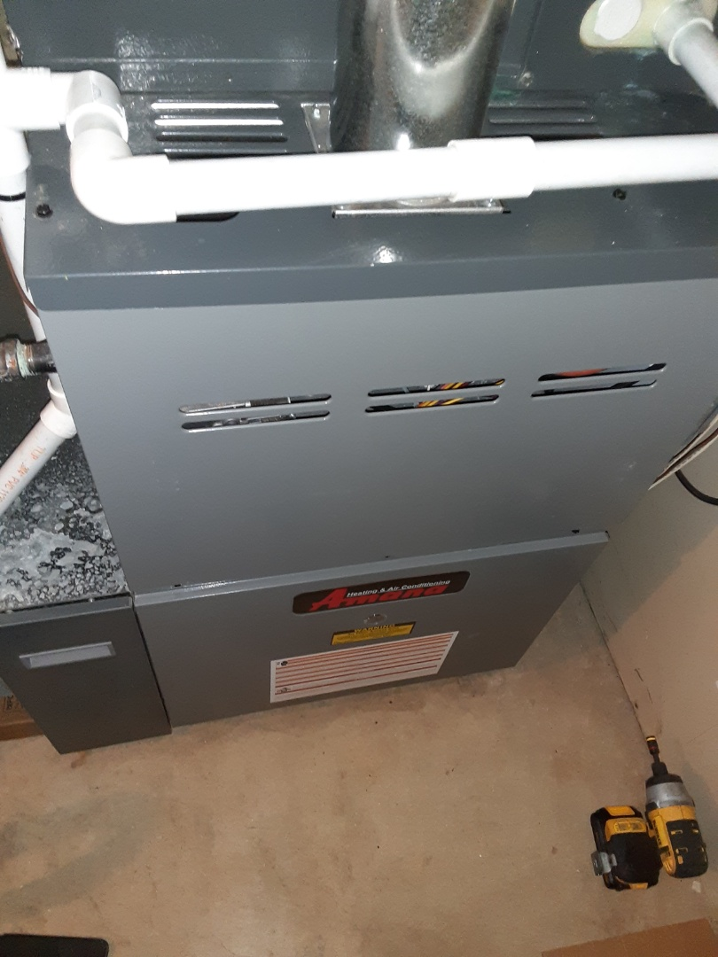 Complete furnace and humidifier maintenance. Recommend a hot water heater maintenance.