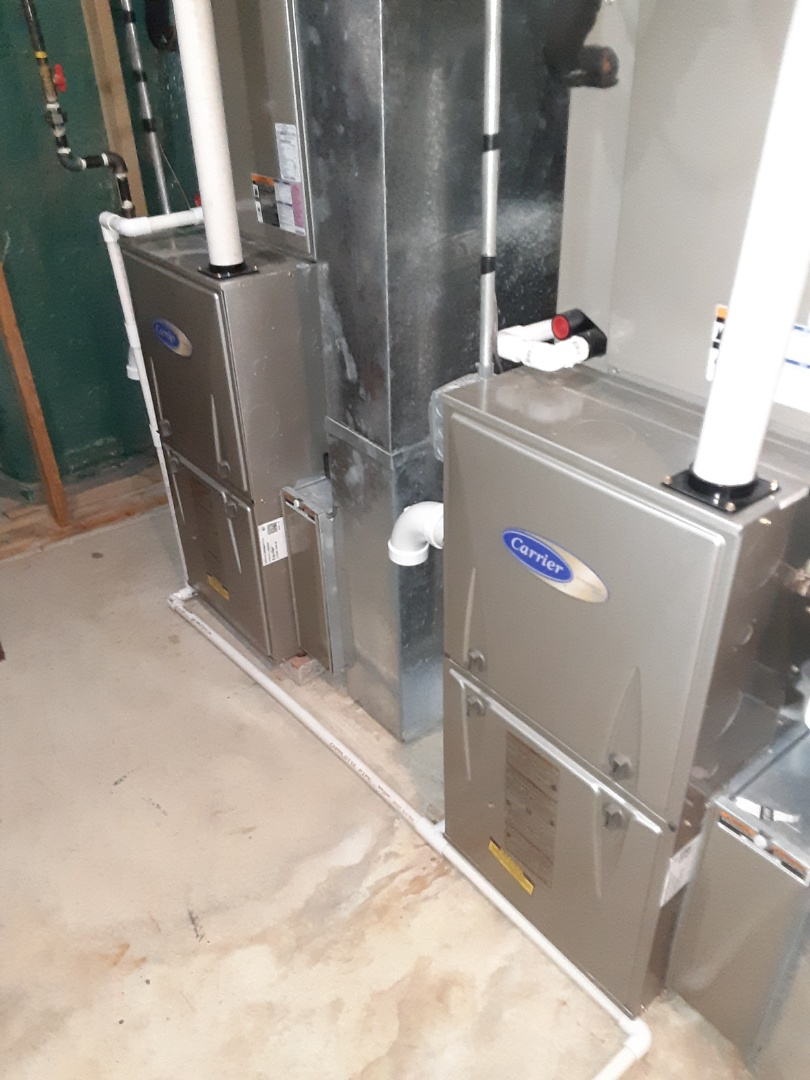 Complete furnace and humidifier maintenances. Recommend a duct cleaning and adding uv lights.